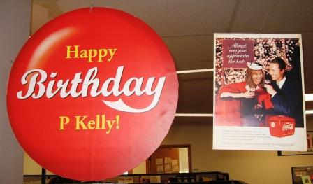 Kelly's birthday signs