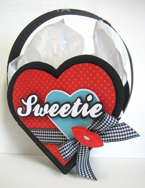 "And here's S A J mom's cute ""Sweets for my Sweetie"" gift bag."