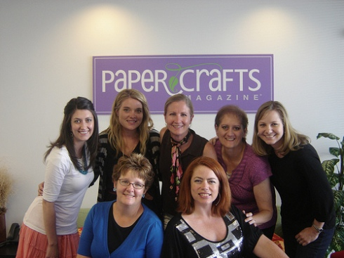 Pausing for a photo with my Paper Crafts friends.