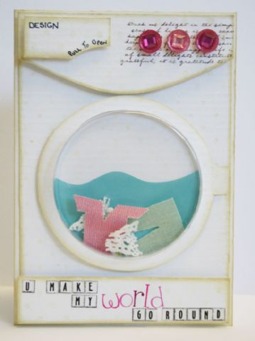 Finalist 8: Debbie Nicholas' U Make My World Go Round Card