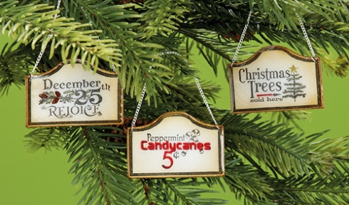 Three Vintage Sign Ornaments by Joanne Allison, p. 157